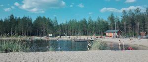 Siikajoen Hietamaalla on hyvä uida